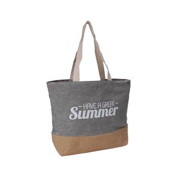 Corvet, Torba plażowa, BB 7044-11, Have a great summer, szara-CORVET