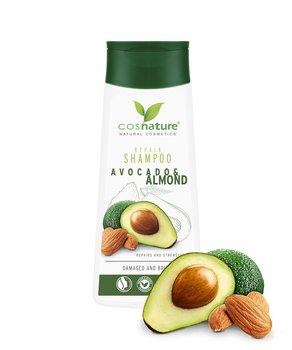 Cosnature, regenerujący szampon do włosów z awokado i migdałami, 200 ml-Cosnature