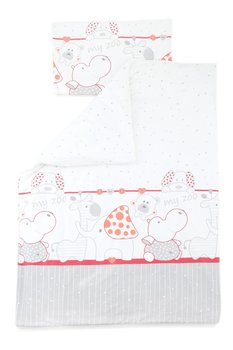 Cottolare Pościel Dziecięca 100x135 Cm Zoo Czerwona Cottolare