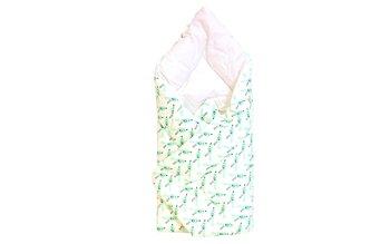 Cottolare, Rożek niemowlęcy Lux, drukowany, Ptaszki, Mięta-Cottolare