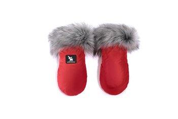 CottonMoose, Rękawice do wózka, Handmuff  Yukon, Czerwone-CottonMoose