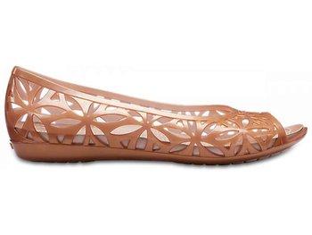 gdzie kupić 100% autentyczny niepokonany x Crocs, Baleriny damskie, Isabella Jelly II Flat W, złoty, rozmiar 36 1/2