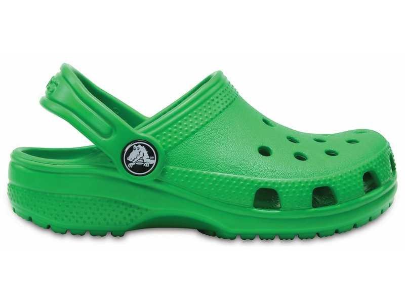 Crocs, Klapki dziecięce, Classic Clog K Grass, zielony, rozmiar 28 12