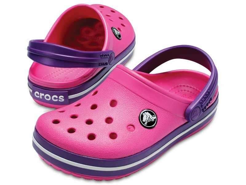Crocs, Klapki dziecięce, Crocband Clog K Paradise, różowy