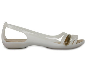 a0642a6b4 Crocs, Sandały damskie, Isabella Huarache Flat W, biały, rozmiar 37 1/2