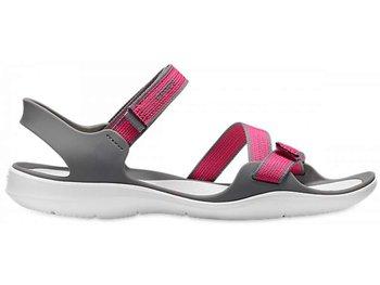 Crocs, Sandały damskie, Swiftwater Webbing Sandal W Paradise, różowy, rozmiar 41 1/2-Crocs