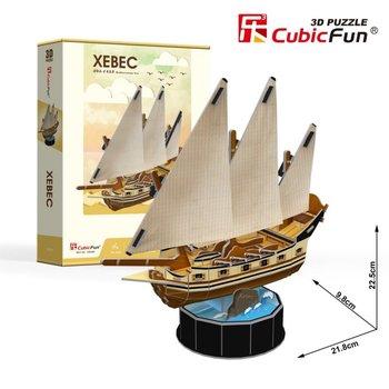Cubic Fun, puzzle 3D Żaglowiec Xebec-Cubic Fun