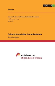 Cultural Knowledge Test Adaptation-Anonym