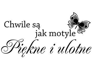 Cytaty, Chwile są jak motyle piękne i ulotne, Naklejka ścienna, 200x100 cm-Oobrazy