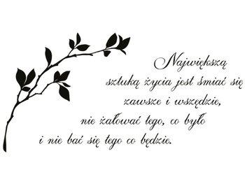 Cytaty, Największą sztuką życia, Naklejka ścienna, 100x50 cm-Oobrazy