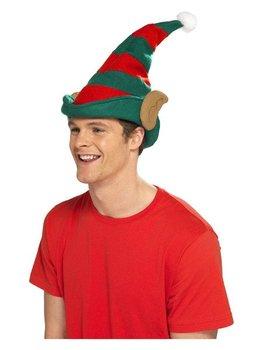Czapka elfa z uszami, boże narodzenie, karnawał