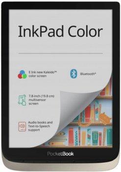 Czytnik PocketBook InkPad Color 16GB srebrny-PocketBook