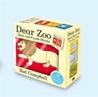 Dear Zoo Book and Puzzle Blocks-Campbell Rod