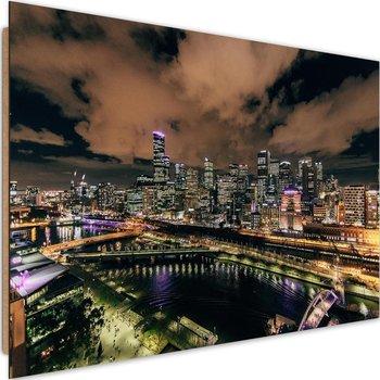 Deco panel CARO Nowoczesne miasto nocą, 60x40 cm-Caro
