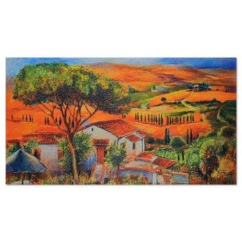 Deco panel CARO Wioska wśród wzgórz, 120x80 cm-Caro