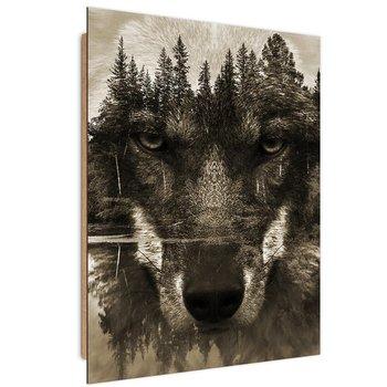 Deco Panel FEEBY Brązowy wilk, 30x40 cm-Feeby