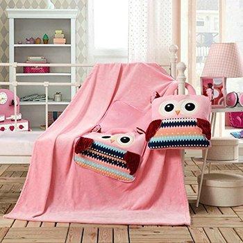 DecoKing, Cuties Sowy, Koc dziecięcy/Poduszka -DecoKing