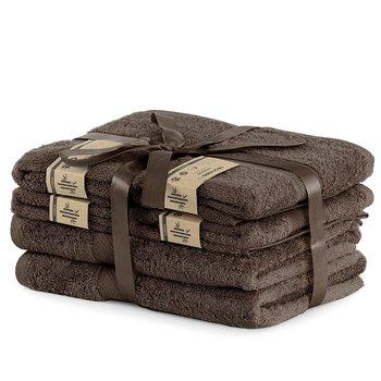 DecoKing Zestaw Ręczników 40% Bambus Brązowy 2*70x140 + 4*50x100-DecoKing