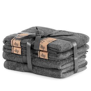 DecoKing Zestaw Ręczników 40% Bambus Grafitowy 2*70x140 + 4*50x100-DecoKing