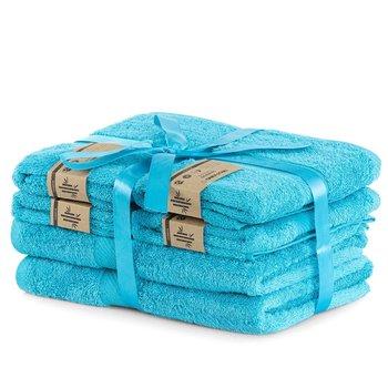 DecoKing Zestaw Ręczników 40% Bambus Turkusowy 2*70x140 + 4*50x100-DecoKing