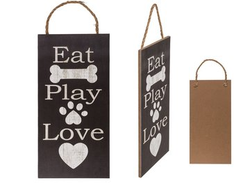 Dekoracja do powieszenia OUT OF THE BLUE Eat Play Love, 26x13 cm-Out Of The Blue