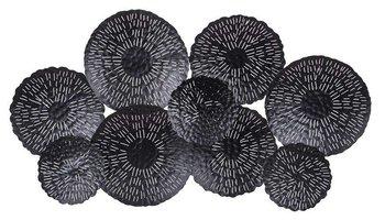 Dekoracja Ścienna czarna Okręgi 66x120x7cm-Pigmejka