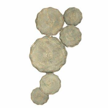 Dekoracja ścienna DEKORIA Silia, złota, 43x93 cm-Dekoria