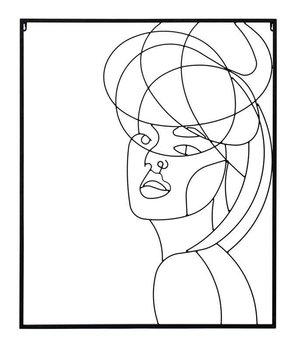 Dekoracja Ścienna Kobieta czarne 80x60x1cm-Pigmejka