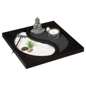 Dekoracja z figurką buddy OGRÓD ZEN, symbol yin yang-Atmosphera