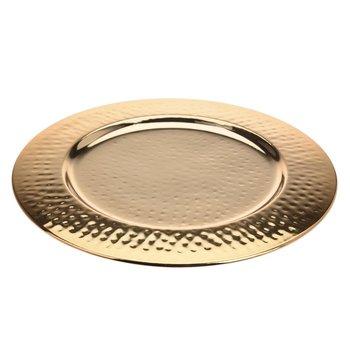 Dekoracyjna patera złota 32 cm, 32 cm-Excellent Housewear
