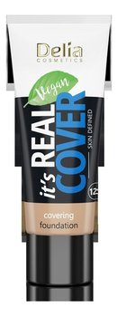 Delia Cosmetics It's Real Cover Podkład kryjący rewitalizująco-nawilżający NR203 Latte 30ml-Delia Cosmetics