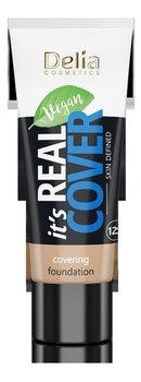 Delia Cosmetics It's Real Cover Podkład kryjący rewitalizująco-nawilżający NR205 Caramel 30ml-Delia Cosmetics