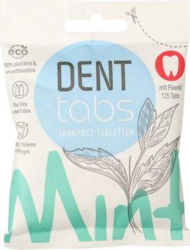 Denttabs, tabletki do zębów ze stewią o smaku miętowym z fluorem, 125 tabletek-Denttabs