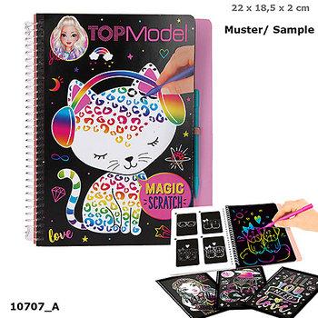 Depesche, zestaw kreatywny Kolorowanka zdrapywanka Magic Scratch Top Model 10707a-Depesche