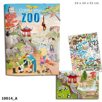Depesche, zestaw kreatywny z naklejkami Zoo, 10014A