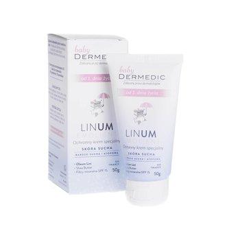 Dermedic Emolient Linum Baby, ochronny krem specjalny SPF 15, od 1. dnia życia, 50 g-Dermedic