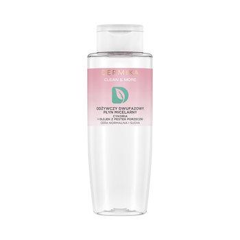 Dermika, Clean & More, odżywczy płyn micelarny dwufazowy do cery normalnej i suchej cykoria i olejek z pestek porzeczki, 400 ml-Dermika