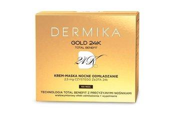 Dermika, Gold 24K, krem-maska nocne odmłodzenie, 50 ml-Dermika
