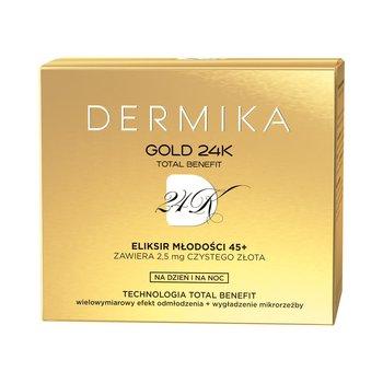 Dermika, Gold 24K Total Benefit, Eliksir młodości 45+, luksusowy krem dzień/noc, 50 ml-Dermika