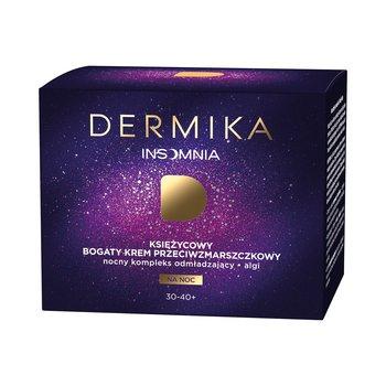 Dermika, Insomnia 30-40+, księżycowy bogaty krem przeciwzmarszczkowy na noc, 50 ml-Dermika