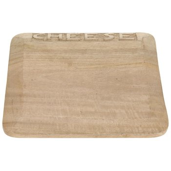 Deska do krojenia, cheese, jasnobrązowa, 29x29 cm
