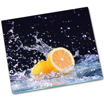 Deska do krojenia szkło Cytryna Woda - 60x52 cm-Tulup