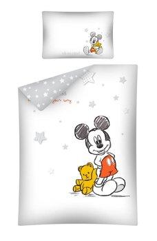 Detexpol, Myszka Miki, Pościel niemowlęca, 2-elementowa, Biały/Popielaty, 100x135 cm-Detexpol