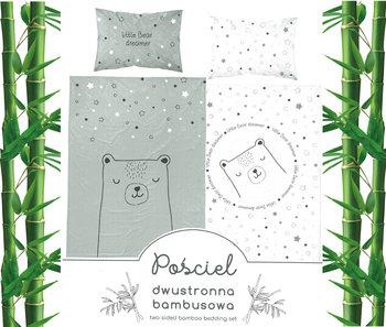Detexpol,  Pościel niemowlęca, 2-elementowa, Bawełna/Bambus, Miś, Zielony, 100x135 cm-Detexpol