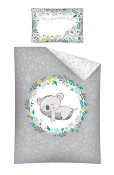 Detexpol, Pościel niemowlęca, 2-elementowa, Koala, Popielaty, 100x135 cm-Detexpol
