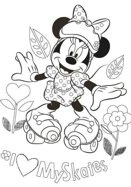 Disney Myszka Minnie Koszulka Do Kolorowania Disney