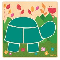 Djeco, puzzle drewniane Kolorowy żółw, DJ01491
