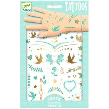 Djeco, tatuaże metaliczne Klejnoty Lily-Djeco