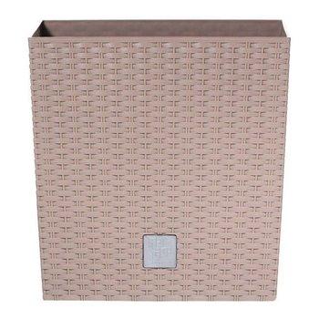 Doniczka PROSPERPLAST Rato low, mocca, 20,2x20x20 cm-PROSPERPLAST