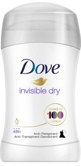 Dove, Invisible Dry, antyperspirant w sztyfcie, 40 ml - Dove